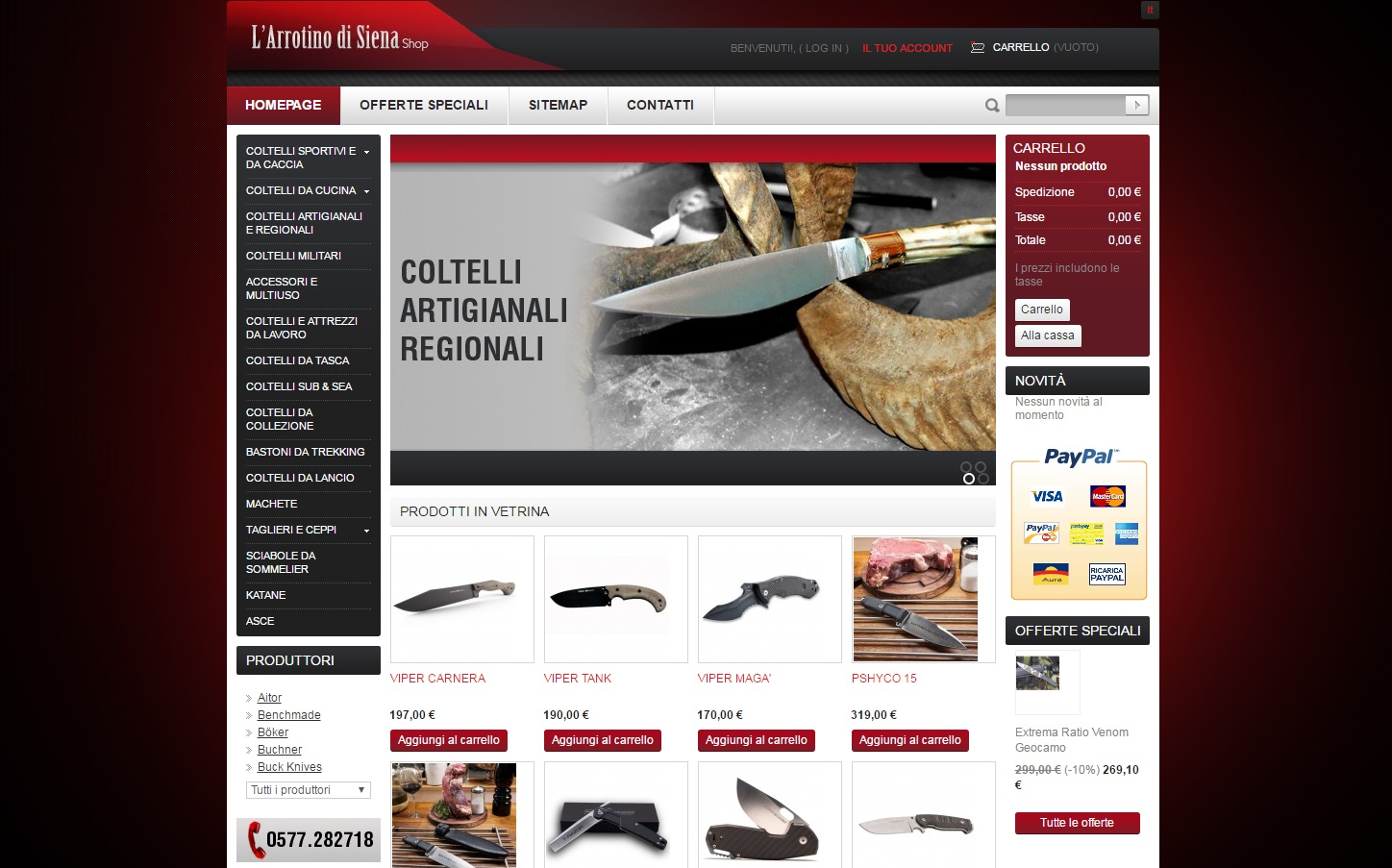 Arrotino di Siena Store - E-commerce